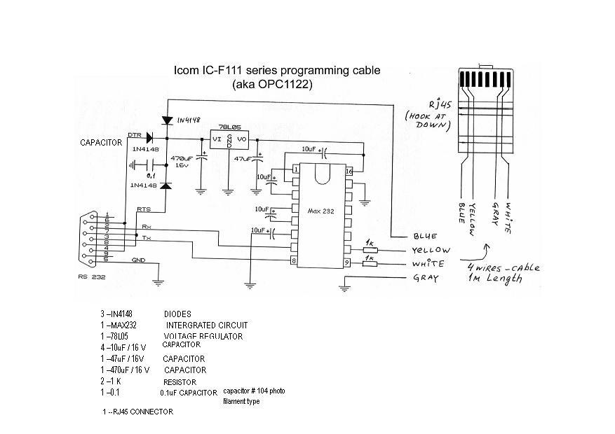 Icom OPC-1122 :: Схема