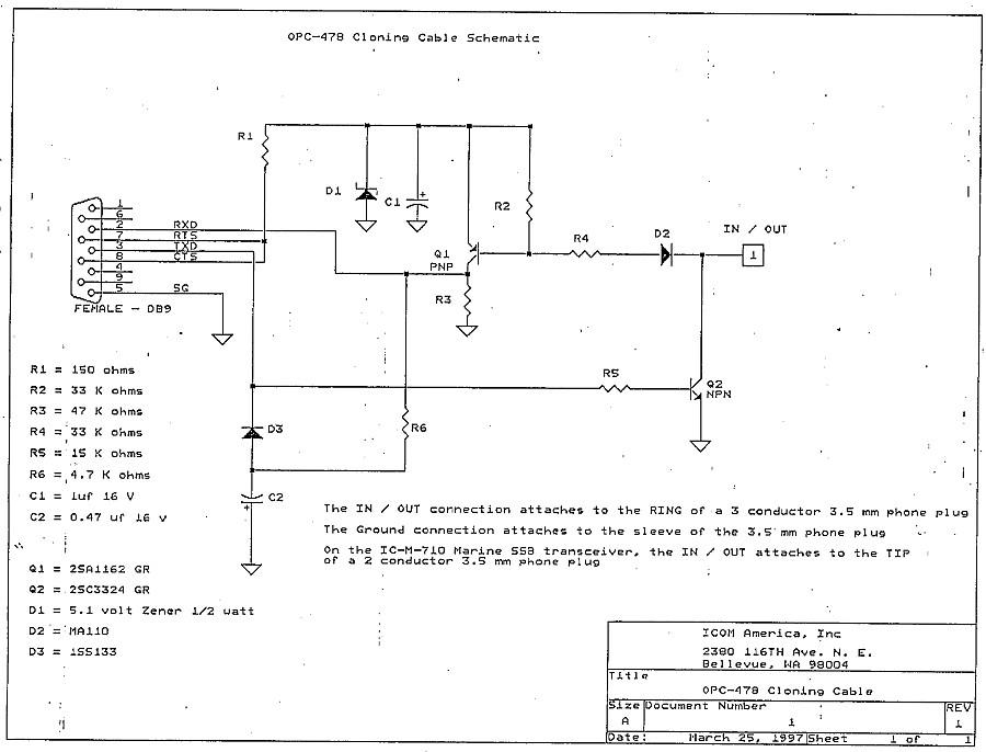 Icom OPC-478 :: Схема