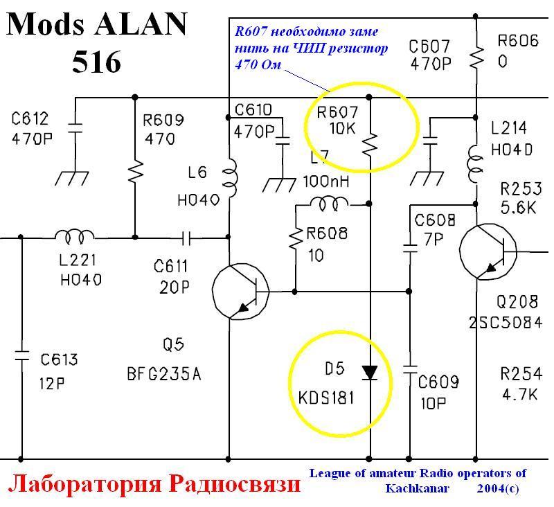 Alan 516 инструкция - фото 3