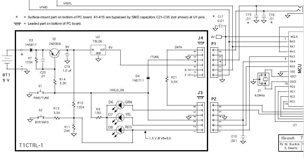 Elecraft T1 :: вынос панели управления